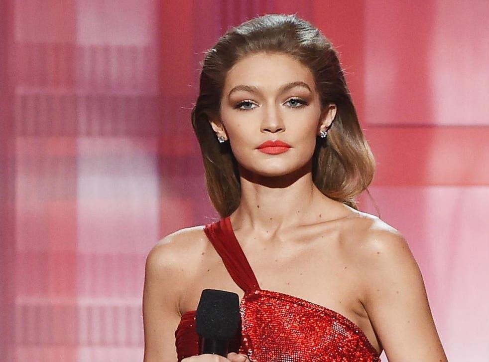 Gigi Hadid presenting the American Music Awards
