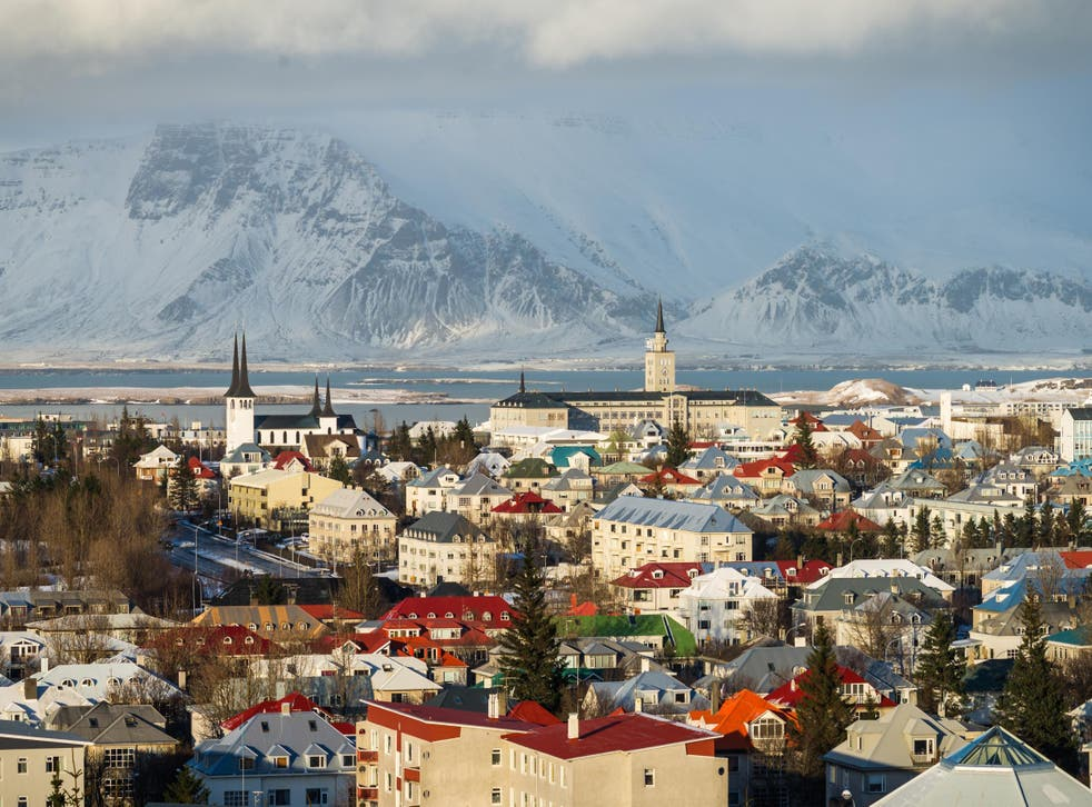 The Icelandic capital Reykjavik has a gorgeous natural backdrop and colourful houses