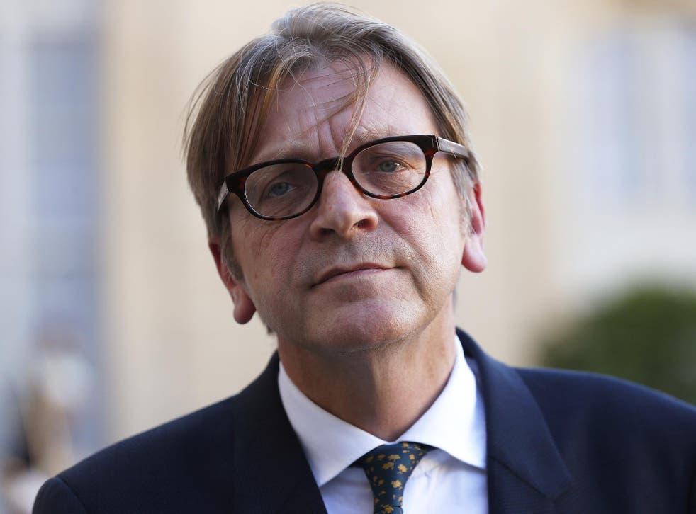 Guy Verhofstadt, the European Parliament's chief negotiator