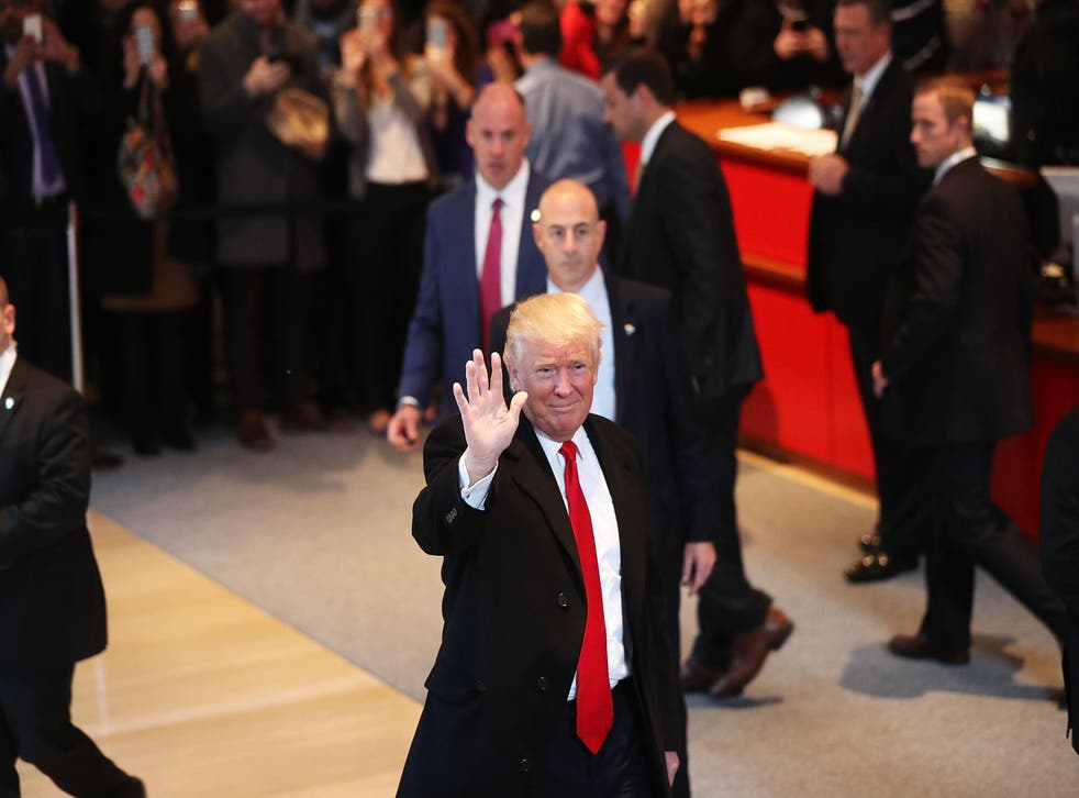Mr Trump meets reporters, editors and publishers at the New York Times