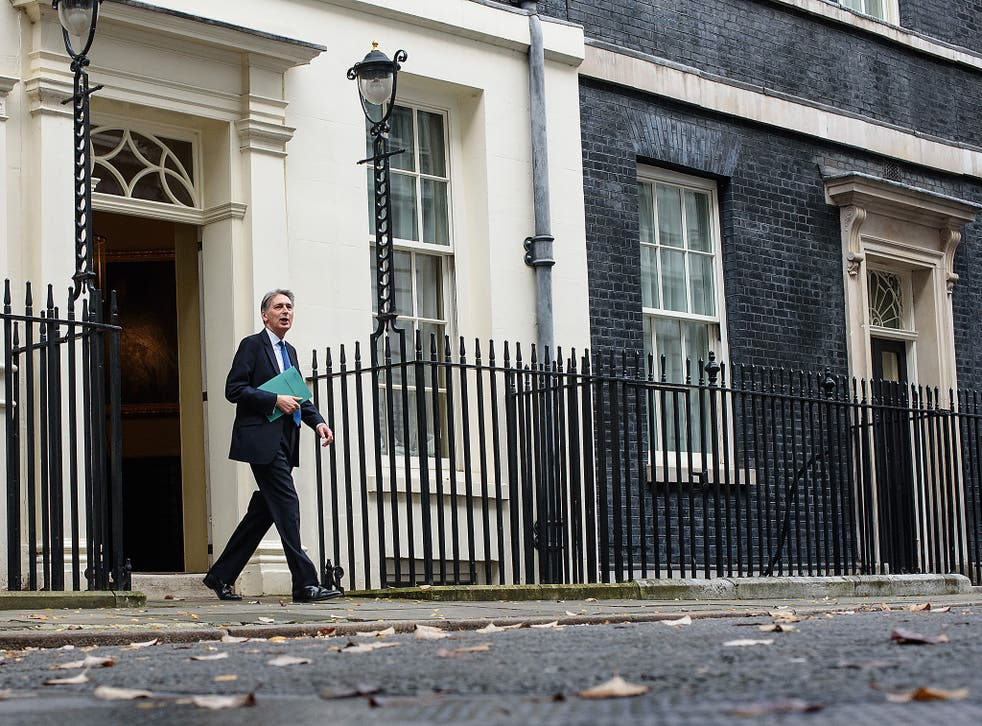 Chancellor of the Exchequer, Philip Hammond, leaves 11 Downing Street to deliver his Autumn Statement to Parliament