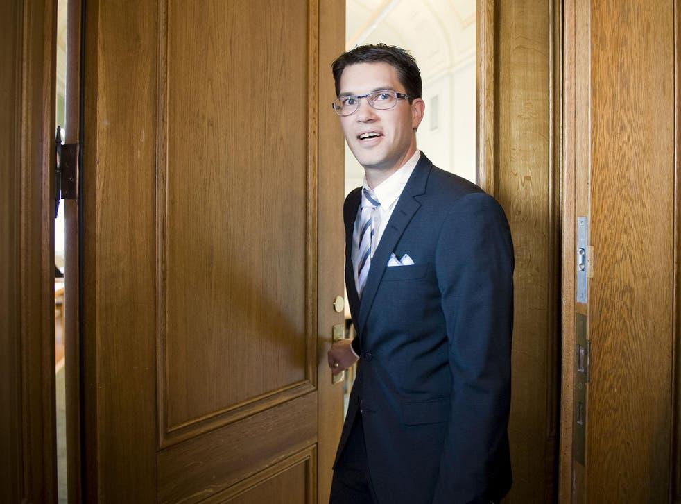 Jimmie Åkesson leader of the Swedish Democrats