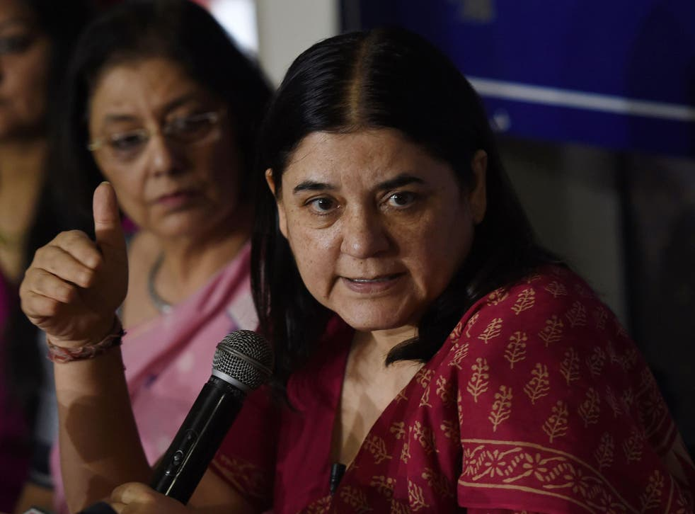 Maneka Gandhi made the false claim that India is in the bottom four countries in the world for rape cases