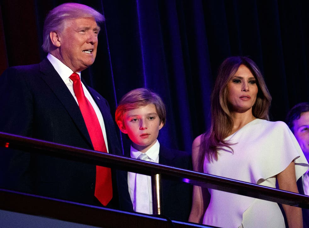Around 80 children from Barron's school, Columbia Grammar and Preparatory School which is on the Upper West Side of Manhattan, travelled to Washington on a bus chaperoned by both their teachers and Secret Service agents