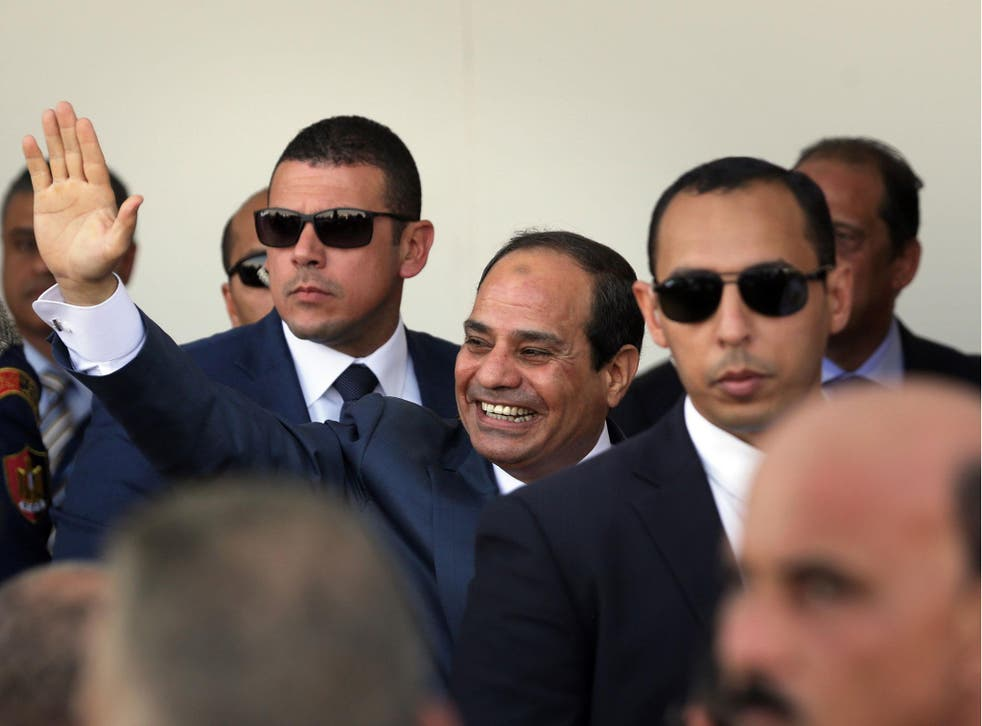 President Abdel Fattah al-Sisi was allegedly the target of two plots by dismissed police officers who adhere to jihadist ideology