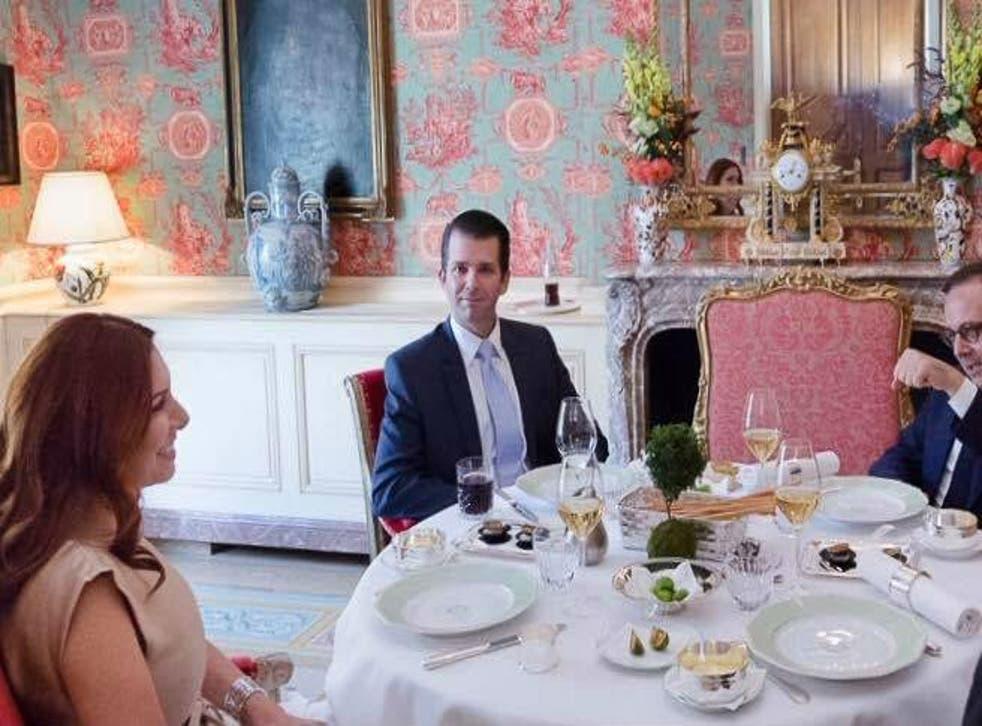 Donald Trump Jr at a meeting last month with Randa Kassis