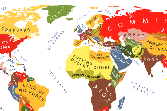 A Map Of The World According To American Stereotypes Indy100