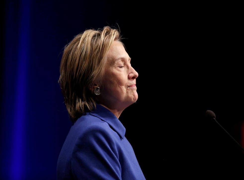 Hillary Clinton speaks to the Children's Defense Fund in Washington, U.S., November 16, 2016