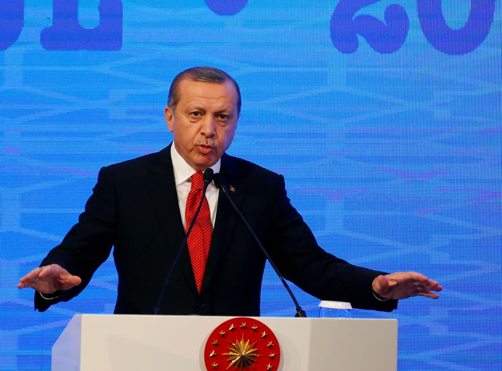 President Erdogan has been increasingly vocal in his support for Mr Trump