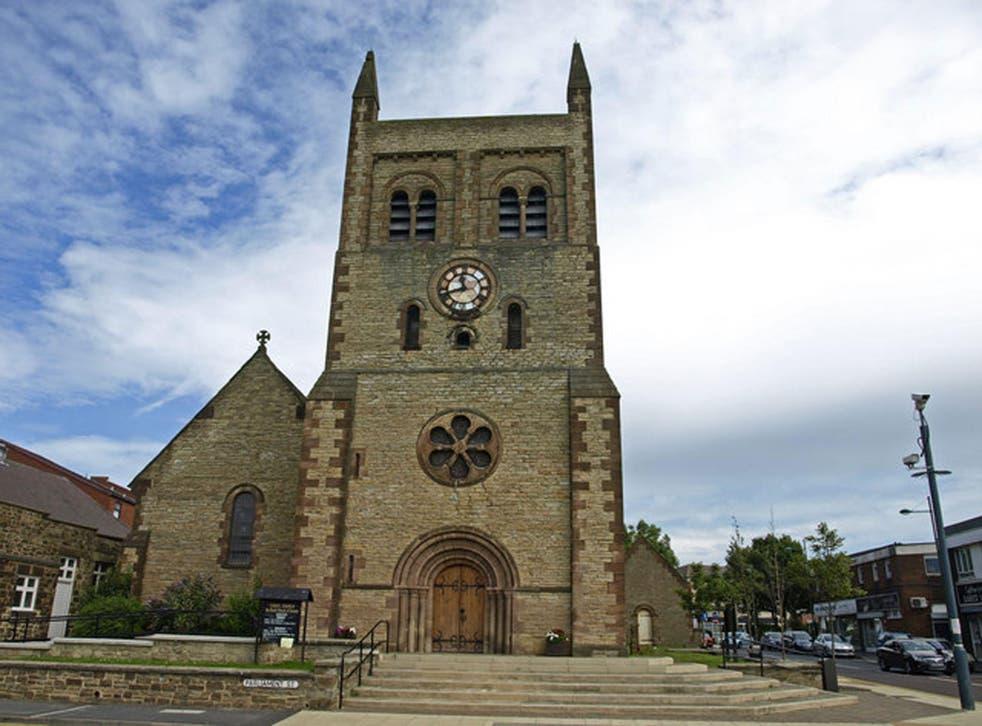 Christ Church parish church in the centre of Consett