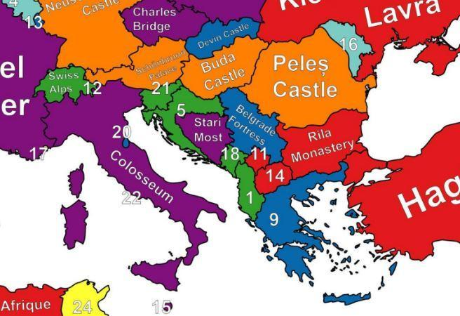 A map of the best thing to see in every country in europe for Best european countries to visit