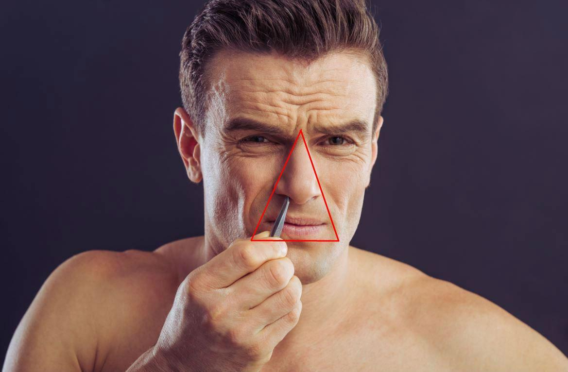 This is what the 'danger triangle' on your face actually is