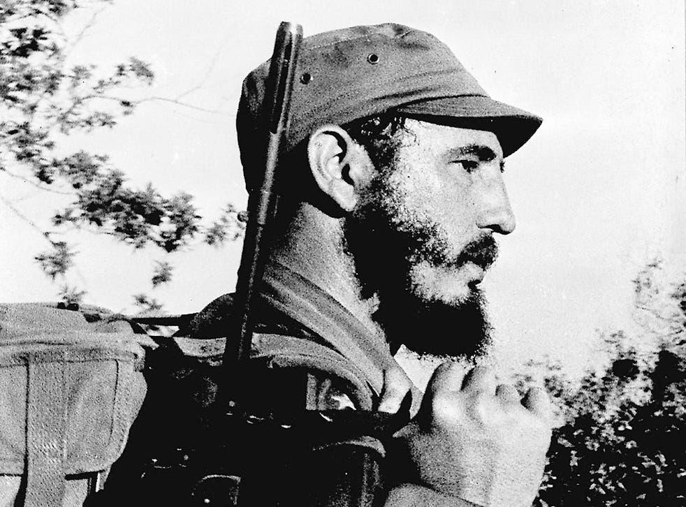 Young rebel leader Fidel Castro