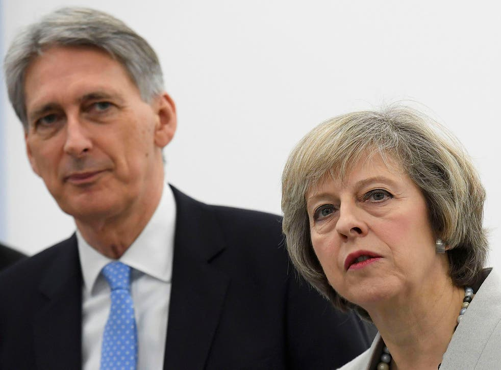 Chancellor Philip Hammond with Prime Minister Theresa May