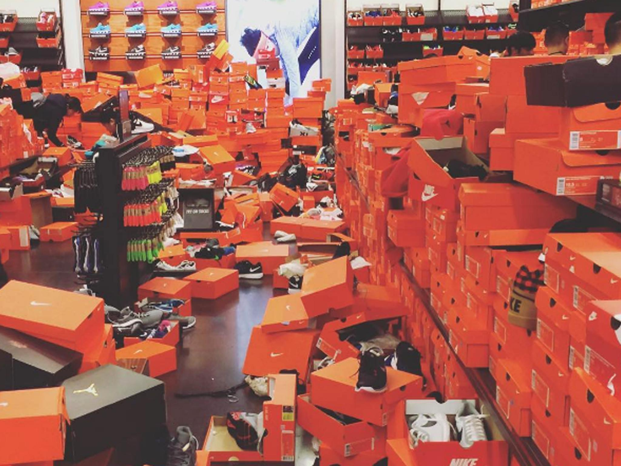 Nike store wrecked after Black Friday chaos | The Independent