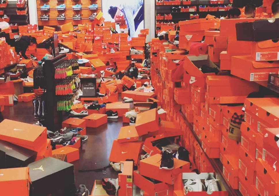 dbe67ffe9665 Nike store wrecked after Black Friday chaos