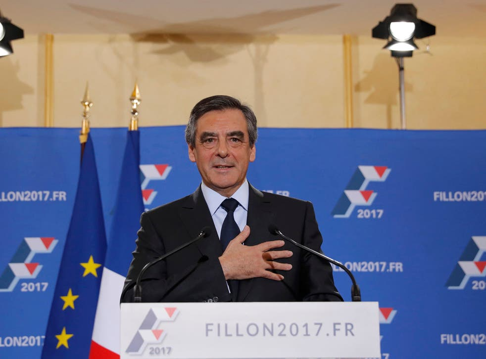 Mr Fillon is currently favourite to win the French election