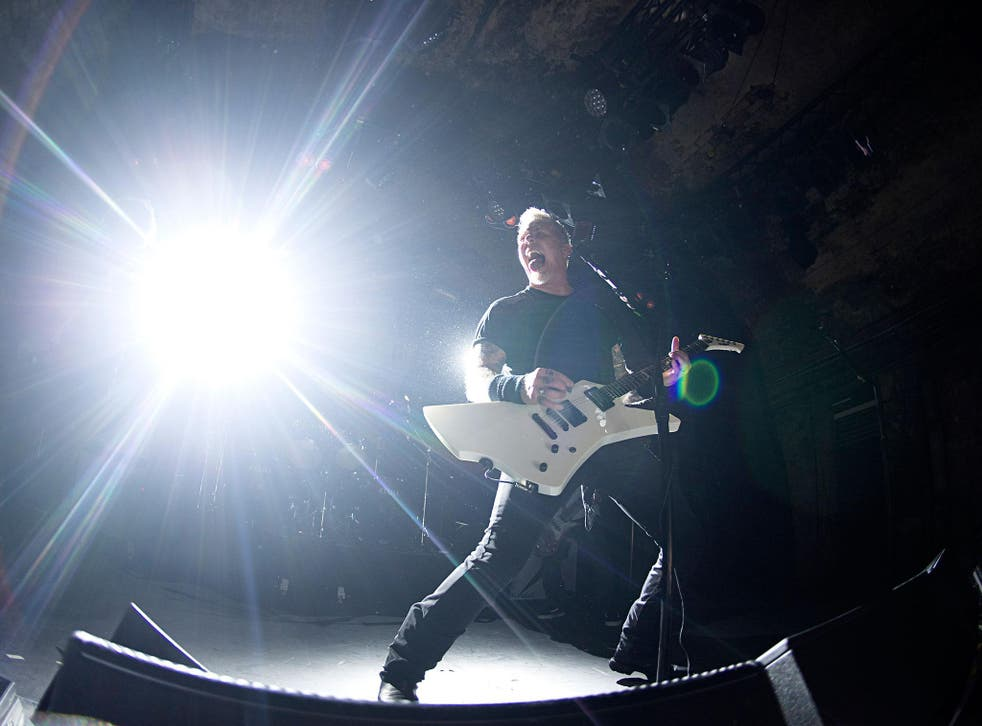 James Hetfield performs with Metallica at House of Vans, London, 18th November 2016