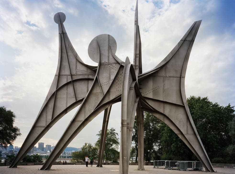 Man and His World unveiled at Montreal 1967 World's Fair, by Alexander Calder