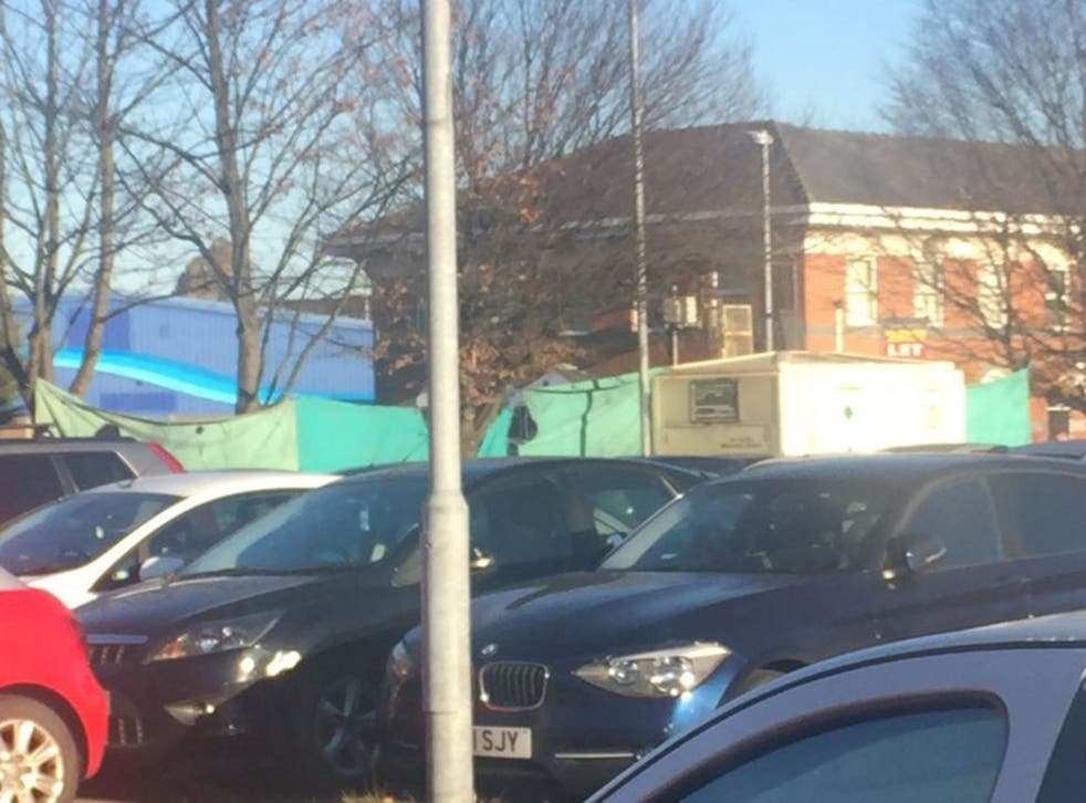 Humberside Police cordoned off the car park where the shooting is believed to have taken place