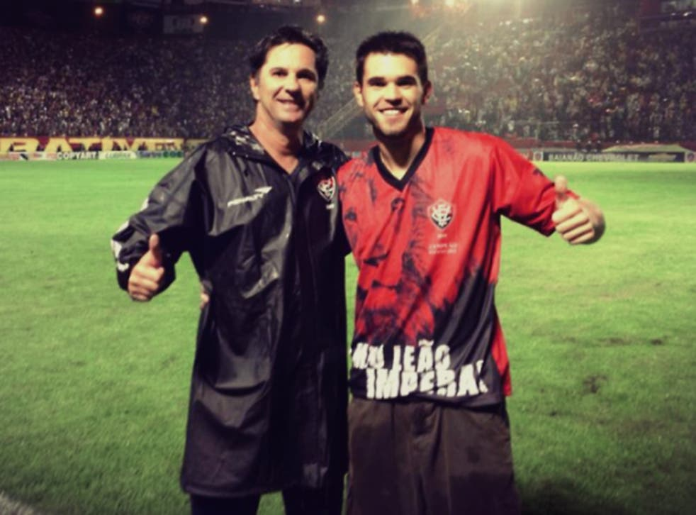 Matheus Saroli and his father, Caio Júnior
