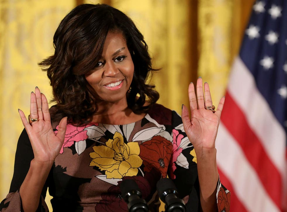 The first lady has been the target of numerous racial slurs in recent weeks