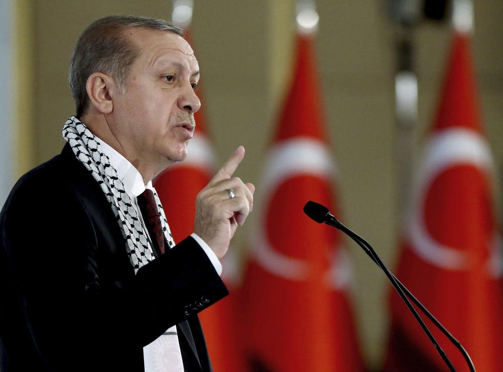 Turkish President Recep Tayyip Erdogan said he would 'fight to the end against not just the armed attacks of terror groups and the forces behind them, but also against their economic, political and social attacks'