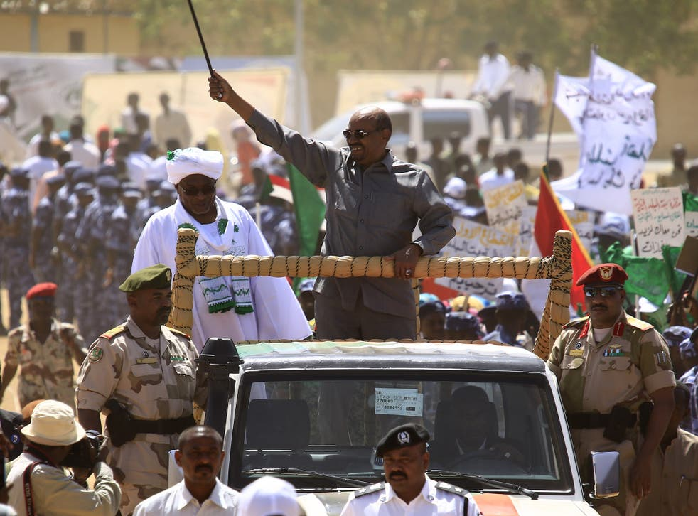 Sudan's President Omar al-Bashir visits North Darfur, with a strong police presence, while campaigning for the 2015 presidential elections