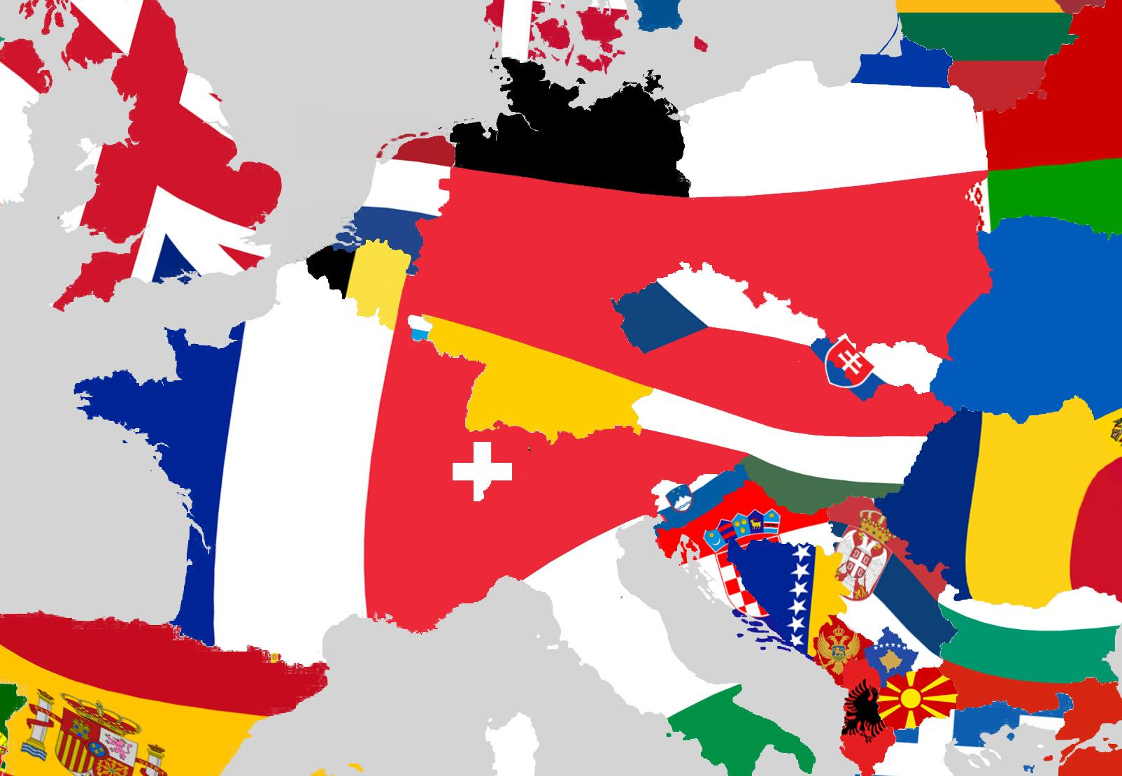 Europe Flag Map The beautiful flag map that will change the way you look at Europe