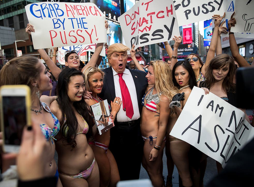 Girls in bikinis protest trump Donald Trump And The Power And Origin Of The Naked Protest The Independent The Independent