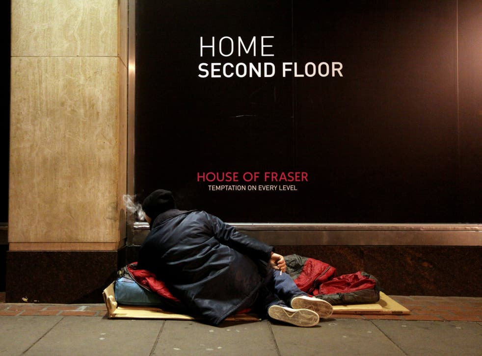 Almost half of people would not pay more taxes to help the homeless, ComRes found