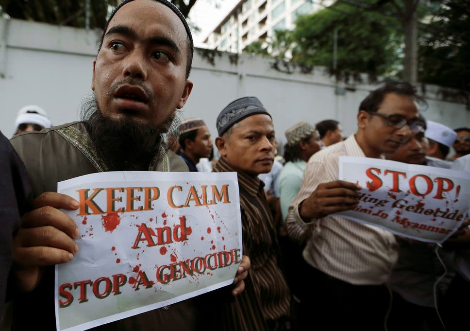 Muslims Protest Against What They Say Is Burmas Crackdown On Ethnic Rohingya Muslims