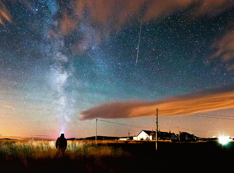 With its dark skies, Northumberland is one of the best places for witnessing a meteor shower