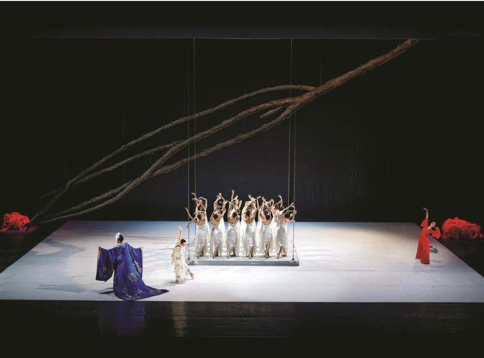 The National Ballet of China perform in 'The Peony Pavilion' at London's Sadler's Wells