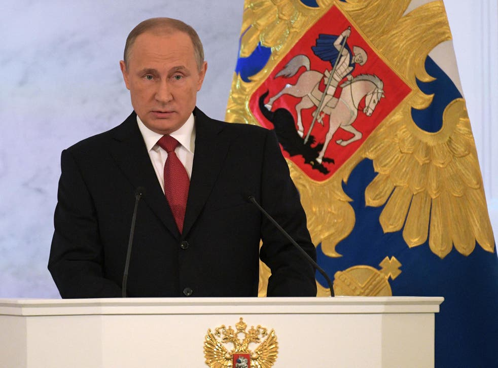 News of test comes amid growing tensions between the West and the Kremlin under Vladimir Putin