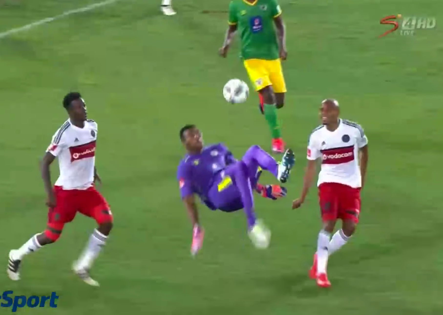 South African goalkeeper stuns football world with 96th minute overhead kick