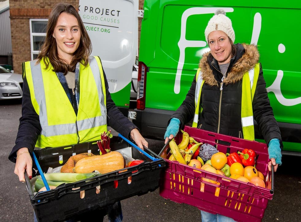 Ella Mills of Deliciously Ella helps out with the Felix Project