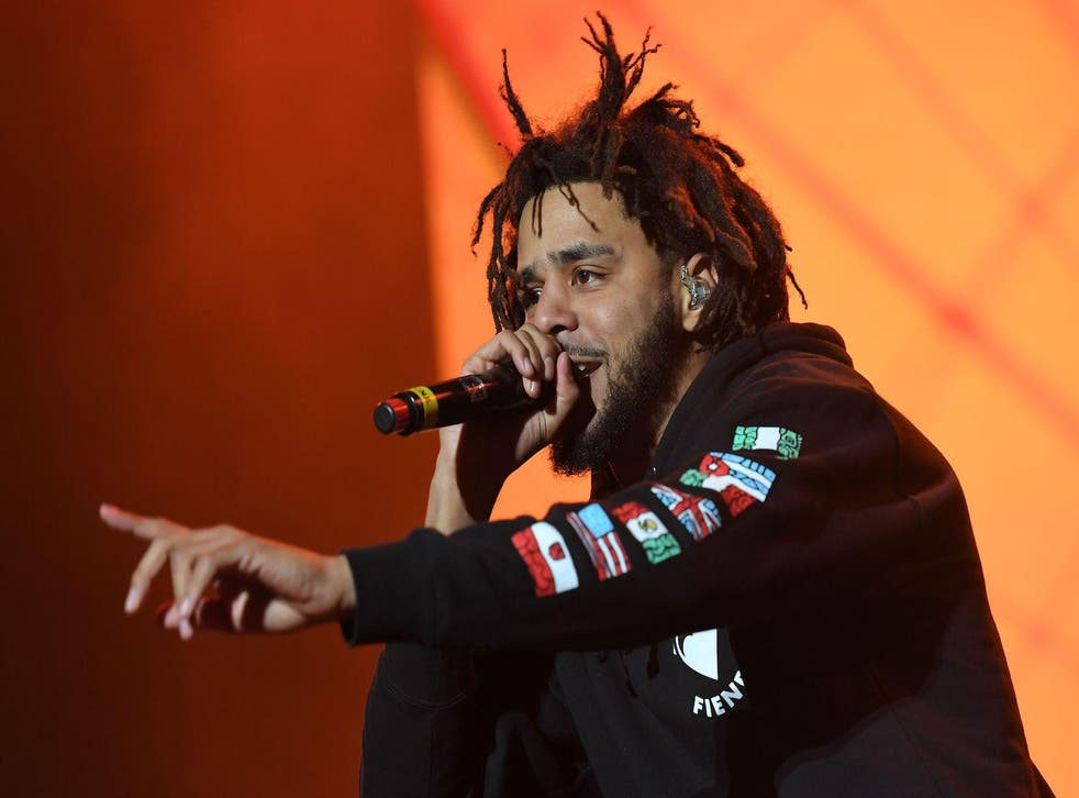 J. Cole performs onstage during The Meadows Music & Arts Festival on October 1, 2016 in New York City.