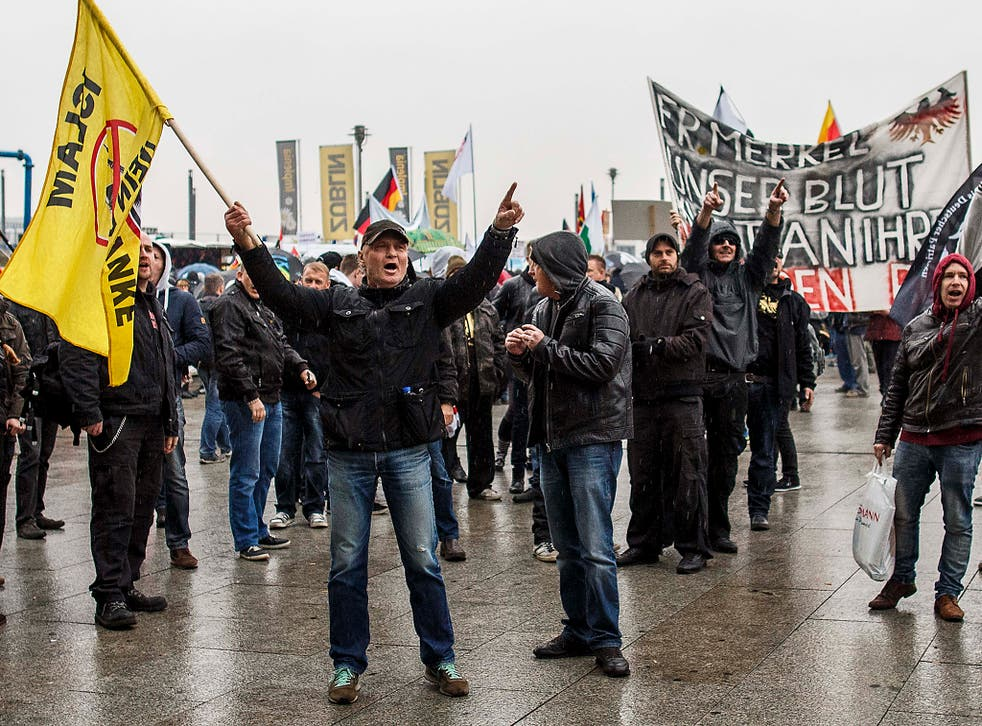 Right-wing, anti-migrant protests have become more common in Germany, and AfD's popularity has grown with the rising discontent over the presence of refugees in the country