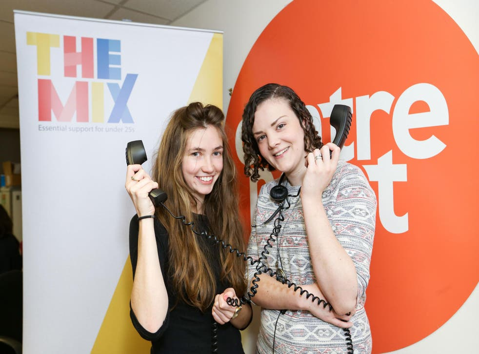 Centrepoint and The Mix have joined forces for the Young and Homeless Helpline. On the the phones: Tess, from The Mix (left), and Grace from Centrepoint.
