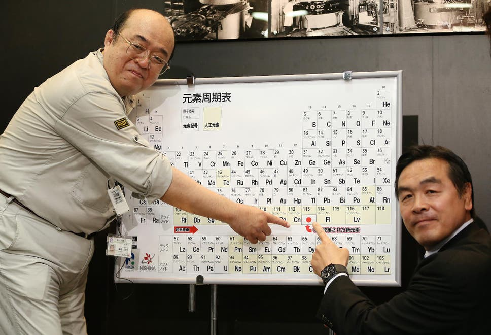 Periodic table officially expands to make way for four brand new kosuke morita l who led the team at riken institute that discovered the urtaz Gallery
