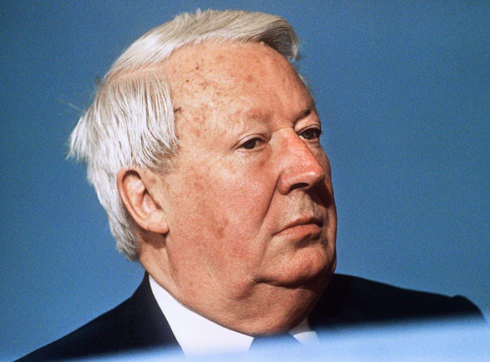 Former British Prime Minister Sir Edward Heath in October 1989