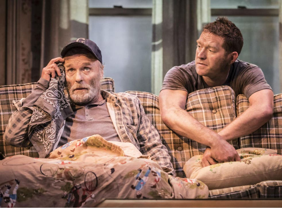 Ed Harris (left) and Barnaby Kay in 'Buried Child'