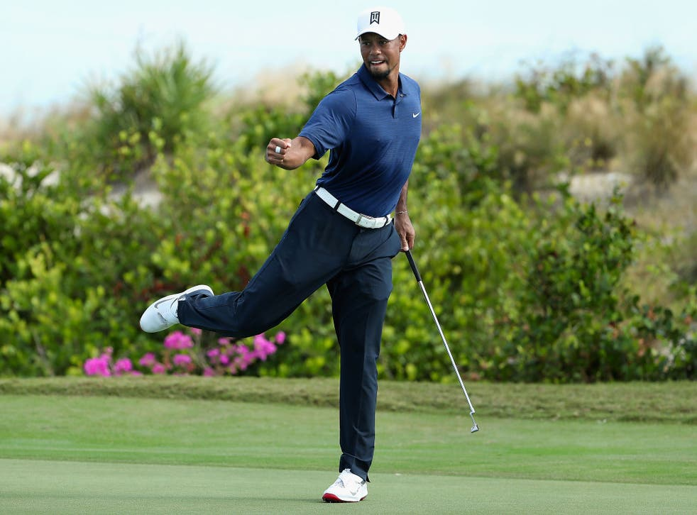 Tiger Woods carded a seven-under-par 65 in just his second round since returning from injury