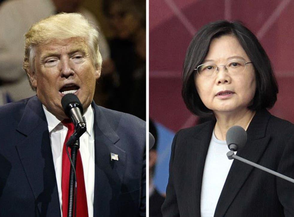 US President-elect Donald Trump and Taiwan's President Tsai Ing-wen