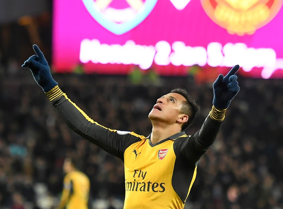Sanchez was in masterful form at the London Stadium