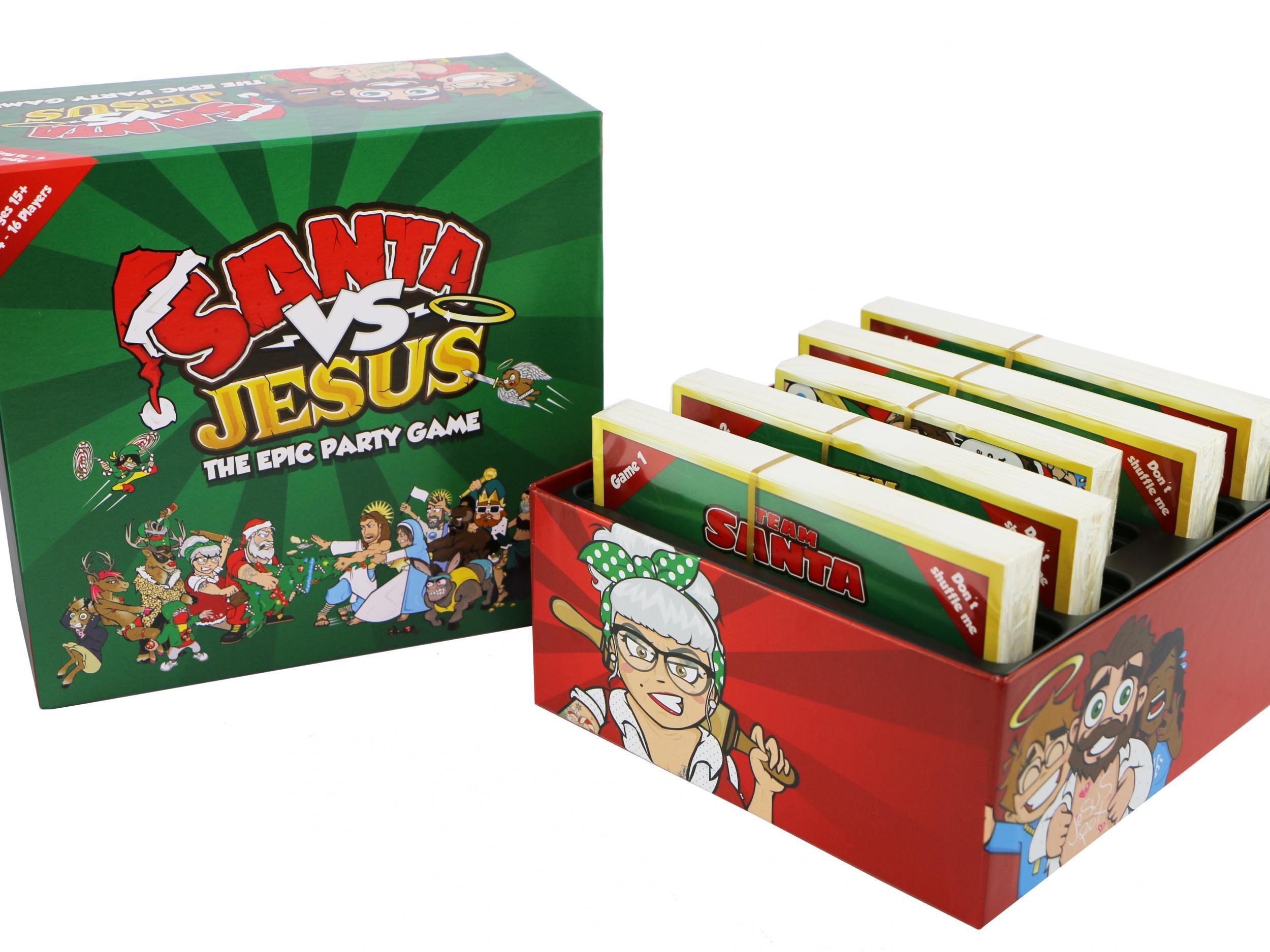 critics describe christmas themed santa vs jesus board game as shocking and blasphemous the independent - Jesus Santa