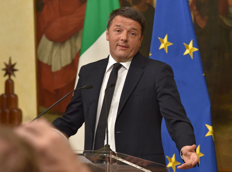 Italy's Prime Minister Matteo Renzi promised to resign if he lost the referendum