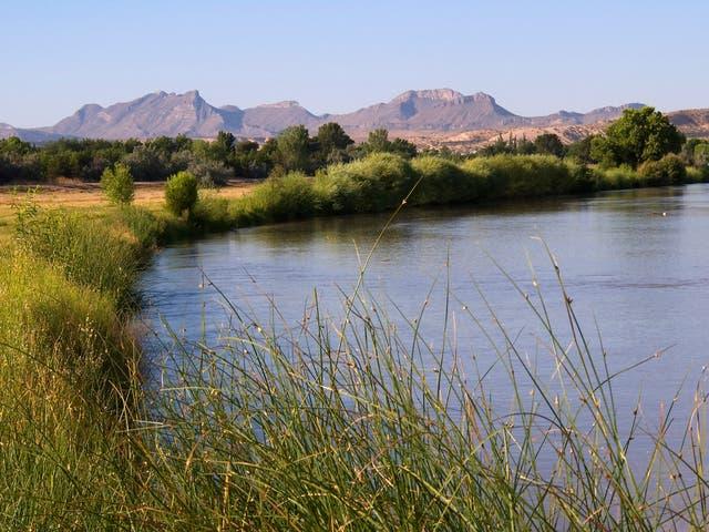 The Rio Grande river in El Paso, Texas