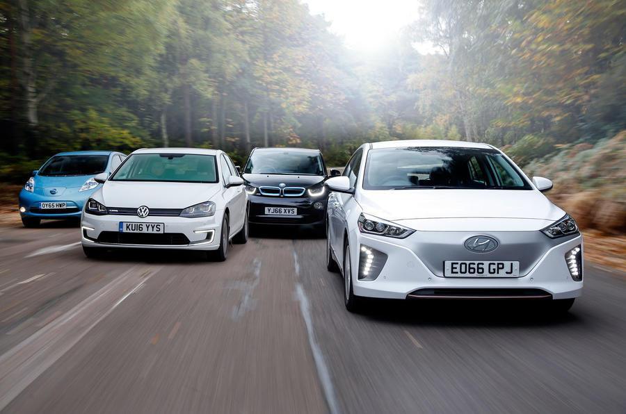group test electric cars hyundai ioniq v volkswagen e. Black Bedroom Furniture Sets. Home Design Ideas
